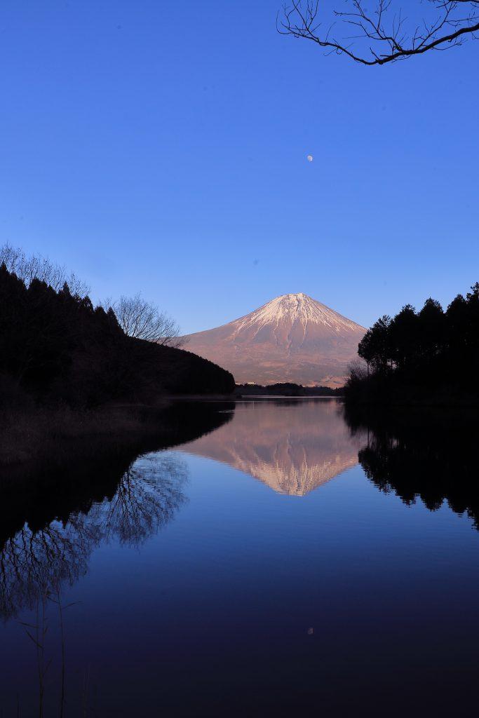 田貫湖からみた富士山