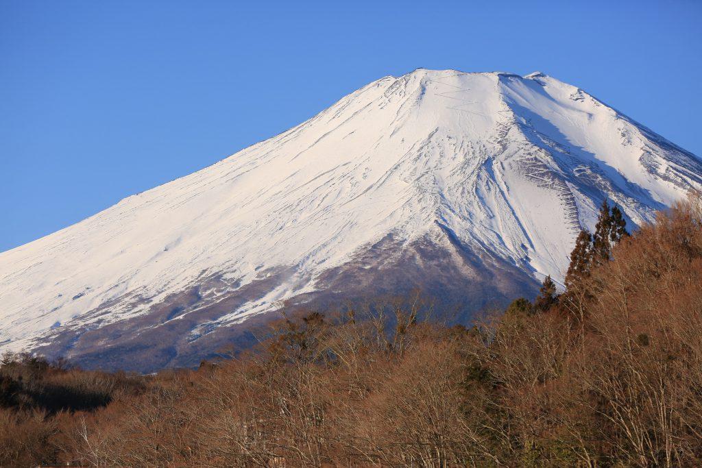 山中湖から眺めた富士山
